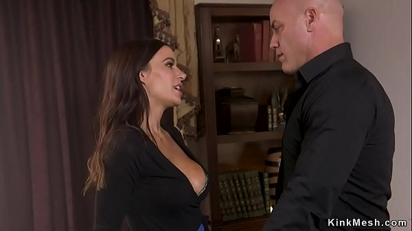 Lawyer fucks busty assistant in bondage