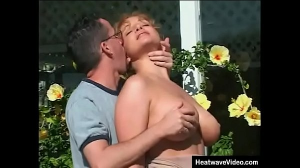 Naughty mom with huge tits gets fucked by her daughter's boyfriend in backyard Thumb