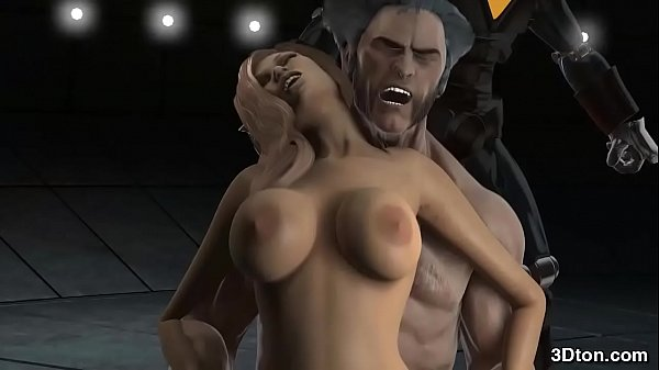 Wolverine fucking a bigtitted babe
