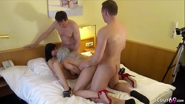 TWO GERMAN COUPLE IN REAL SWINGER CHANGE WIFE AND FUCK GROUP