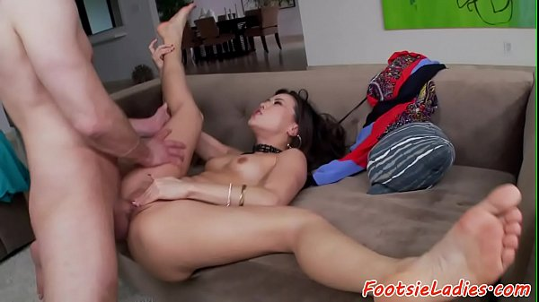 Footfetish asian babe gets doggystyle fucked