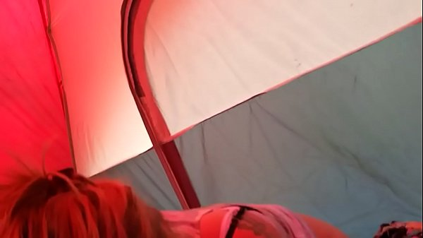 Tent blowjob with Chad & Heather