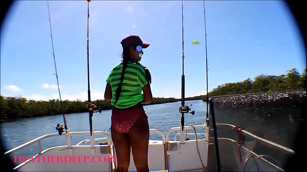 HD Tiny Asian Thai Heather Deep goes fishing and plays hide the hotdog in the pussy and deep Thumb