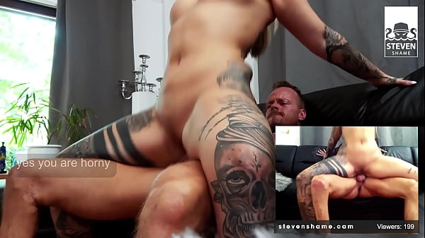 Tattooed Pornstar Mia Blow gets her fat pussy fucked on couch! StevenShame.Dating Thumb