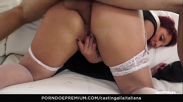 CASTING ALLA ITALIANA - #Barbara Gandalf - First Time Anal Action For Italian Busty Mature Thumb