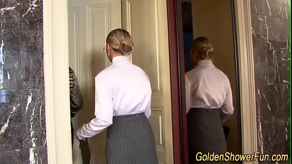 Golden shower threesome