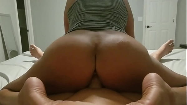 Big Ass MILF rides reverse cowgirl and cums all...