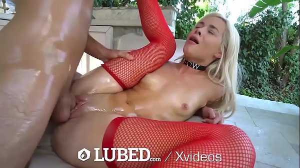 LUBED SOAKING wet oiled up pussy POUNDING Thumb