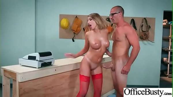 Bang On Cam In Office With Bigtits Girl (August Ames) video-06