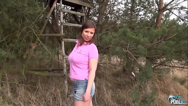 Slightly Curvy Newbie Poses and Gets Rammed Outdoors