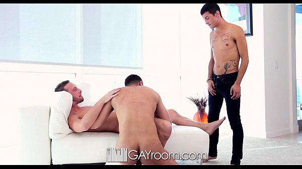 HD - GayRoom Cute guy joins his roommates for a...