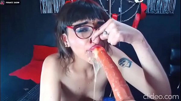 Throat fuck submissive whore humiliated while c. on cock