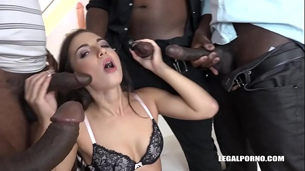 Fit Babe Kristy Black Fucked by 3 Monster Black Cocks and creampied