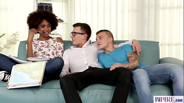 Interracial bisexual threesome - Luna Corazon, Peter and Charlie Dean Thumb