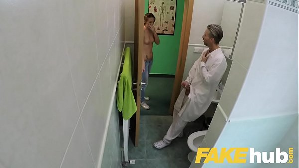 Fake Hospital Doctors thick long dick stretches out tight shaven pussy Thumb