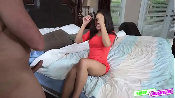 Awesome hot babe Layla London spreading her white legs