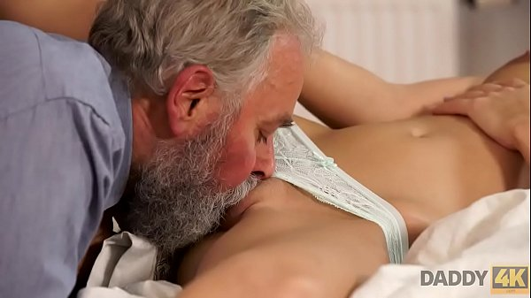 DADDY4K. Blonde-haired dollface Ria Sun tries old dick of BF's dad Thumb