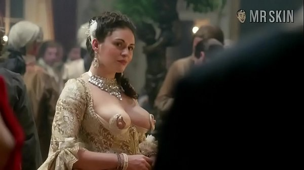 Kimberly Smart nipple dress scene from Outlander the series Thumb