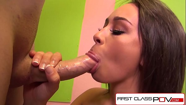 FirstClassPOV - Petite Athena Summers sucking a monster cock, big booty