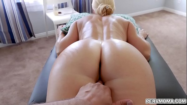 Blonde milf getting a hot massage from her stepson! Thumb