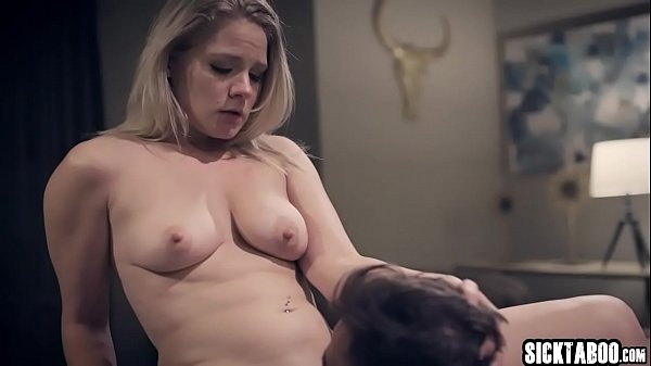 Sexy homeless blonde MILF banged by a house owner