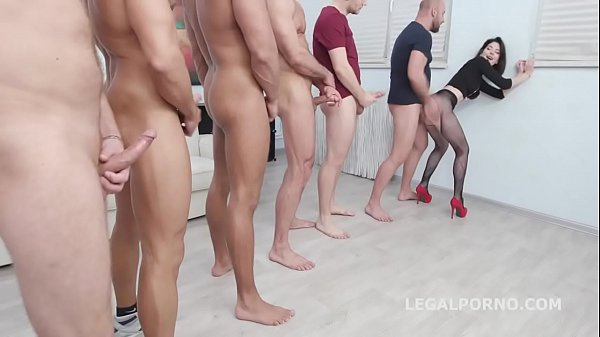 7on1 DAP gangbang with Sara Bell Balls Deep Anal, DAP, TP, Gapes, Swallow GIO975