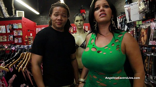 Big Titted Angelina Castro Fucks & Squirts in a...