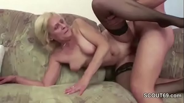 67 yr old cougar getting fucked from behind by 29 yr old cub - 2 5