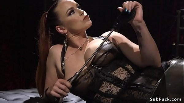 Sadist busty dominatrix torments guy Thumb