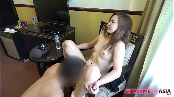 Eating chubby Asian pussy pie