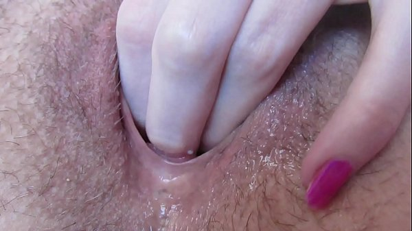 Extreme close up wet pussy fingering gaping and creampie with big erected clitoris Thumb