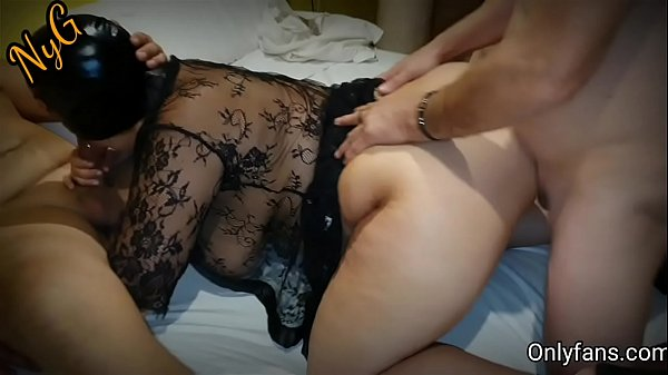 Gangbang with mask - I get fucked in a hotel by...