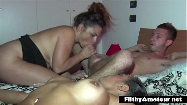 Two wives in a real orgy. Anal, DP and an arm i...