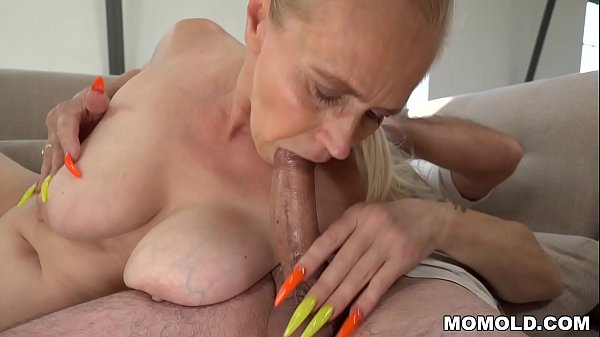 Mom with long nails rides a big dick Thumb