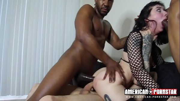Goth Charlotte Double Anal- Tight Asshole split by multiple cocks! Thumb