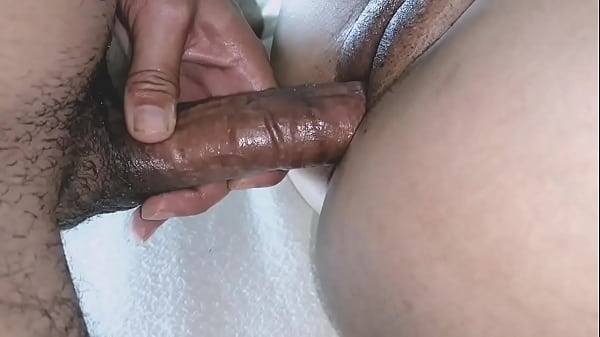 SHE MOANED WHILE HANDLING MY BIG COCK