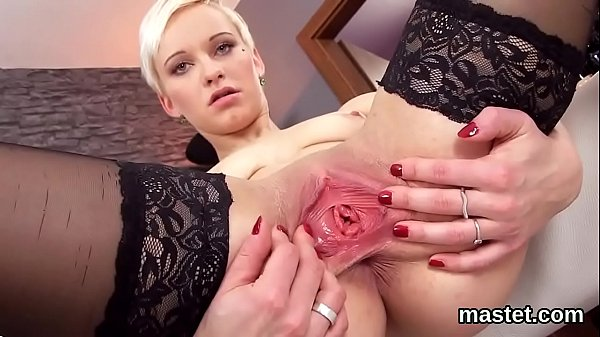 Flirty czech chick opens up her juicy crack to the bizarre