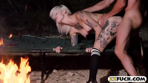 Busty emo tattooed slut sucks off and nailed real hard