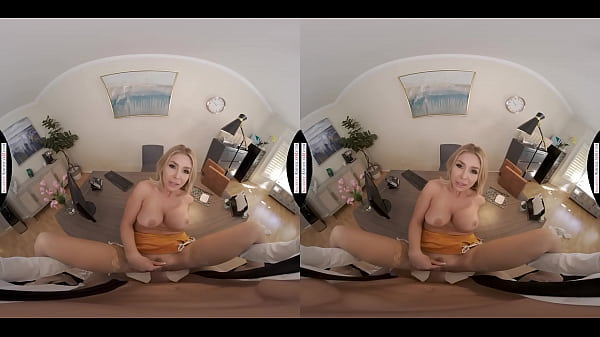 Naughty America - Hot blonde Madelyn Monroe needs your cock in her office! Thumb