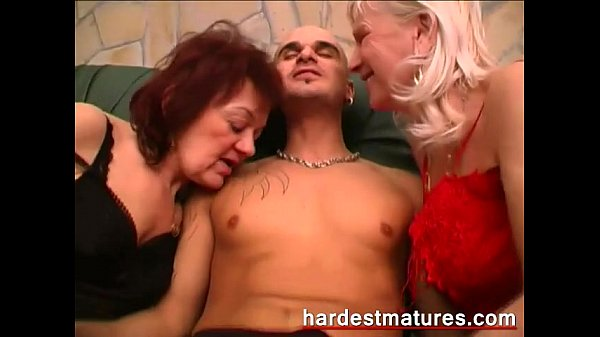 Matures with a horny younger stud