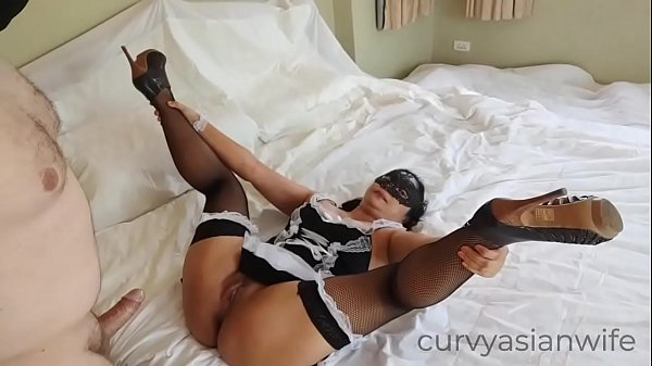 I bang my Asian maid's pussy and give her a creampie