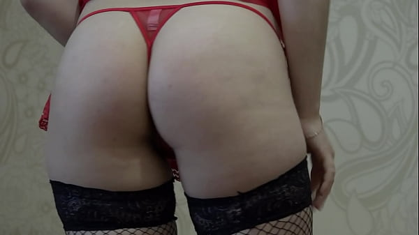 Foot fetish in stockings, masturbation with a v...