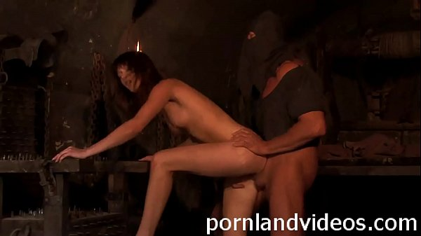 sexy young slave fucked in a prison