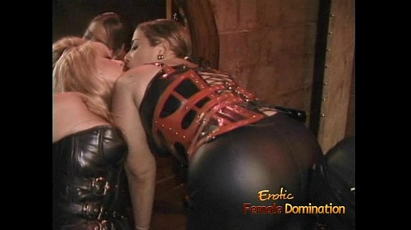 Two chubby dominas give a horny stud a proper s...