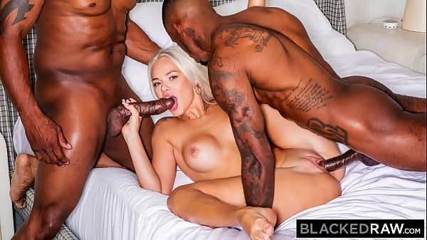 BLACKEDRAW Insatiable Elsa Jean gets spit-roasted by 2 BBCs