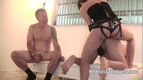 Helena Price Cuckold Husband 7 - He Gets Strap On Pegging Training! Hubby must watch and learn! lol! HD