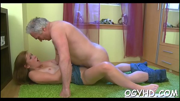 Young hottie licked by an old boy Thumb