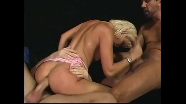 Blonde bombshell loves a rough threesome Thumb