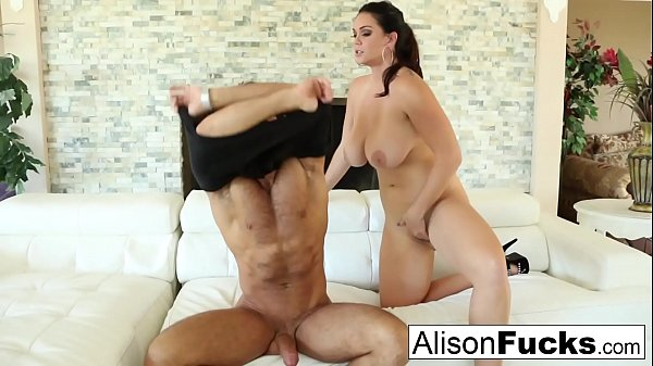 Beautiful Alison Tyler takes on a big cock and swallows it