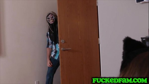 Stepbro tricks sis and friend to fuck by using ...